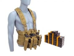 556-CHESTRIG-XP193500 PMC X-TAC 223/5.56 55 Grain FMJ RTAC Chest Rig Combo