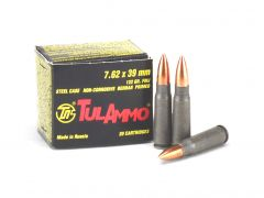 TulAmmo 7.62x39mm 122 Grain FMJ
