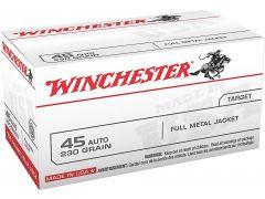 USA45AVP Winchester USA 45 ACP 230 Grain FMJ