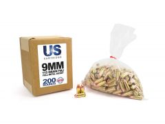 USC9115FMJ-200 US Cartridge 9mm 115 Grain FMJ (200 Round)