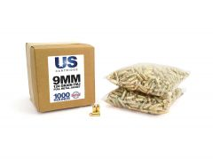 USC9124FMJ-1000 US Cartridge 9mm 124 Grain FMJ (1000 Round)
