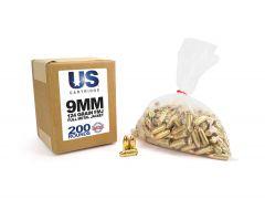 USC9124FMJ-200 US Cartridge 9mm 124 Grain FMJ (200 Round)