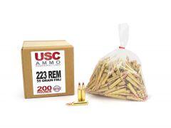 USCR22355FMJ-200 US Cartridge Remanufactured 223 Remington 55 Grain BTFMJ
