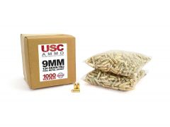 USCR9124FMJ US Cartridge Remanufactured 9mm 124 Grain FMJ (1000 Round)