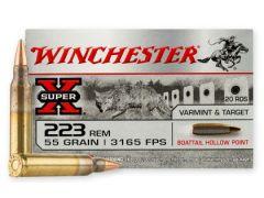 W223HP55 Winchester Super-X 223 Remington 55 Grain BTHP