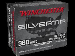 W380ST-CASE Winchester Silvertip 380 ACP 85 Grain JHP