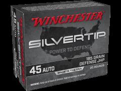 W45AST-CASE Winchester Silvertip 45 ACP 185 Grain JHP