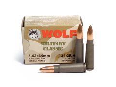 Wolf Military Classic 7.62x39 124 Grain HP Ammo - 20 Round Box