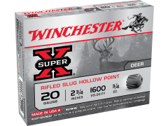 "Winchester Super-X 20 Gauge 2.75"" 3/4 oz Rifled HP Slug X20RSM5 Ammo Buy"