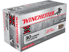 X30M1-CASE Winchester Super-X 30 Carbine 110 Grain Hollow SP (Case)