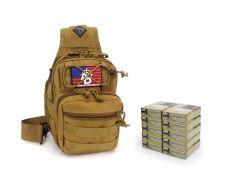 Federal 223/5.56 62 Gr BTFMJ 855 RTAC Tan Tactical Sling Combo