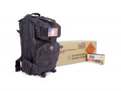 ZQI-9MM-124 ZQI 9mm NATO 124 Grain FMJ Case w/ Free Black Backpack