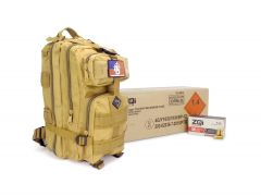 ZQI-9MM-124 ZQI 9mm NATO 124 Grain FMJ Case w/ Free Tan Backpack