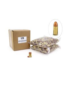 US Cartridge CleanBarrel™ 9mm 115 Gr Bronze TPJ - 1000 Round Bulk (Reman) Case