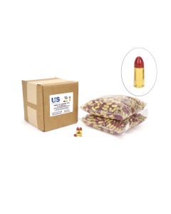 US Cartridge CleanBarrel™ 9mm 115 Gr Red TPJ - 1000 Round Bulk Case