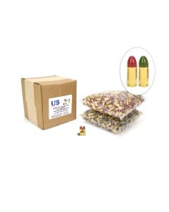 US Cartridge CleanBarrel™ 9mm 115 Gr Red & Green TPJ - 1000 Round Bulk Case