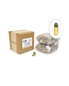 US Cartridge CleanBarrel™ 9mm 115 Gr Green TPJ - 1000 Round Bulk (Reman) Case