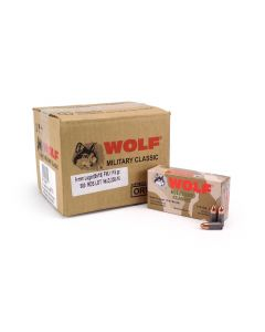 Wolf Military Classic 9mm Luger 115 Gr FMJ (Case)