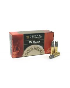 Federal Premium Gold Medal .22LR 40 Grain LRN HV Match