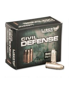Liberty Civil Defense 9mm 50 Grain +P Lead-Free HP Case LA-CD-9-014-CASE