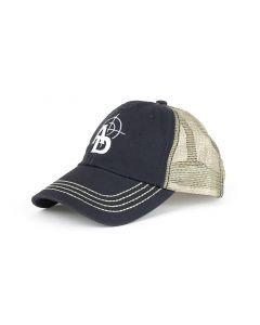Ammunition Depot Washed Twill Trucker Cap - Navy/Khaki