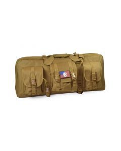 "NcSTAR 28"" Double Carbine Case (Tan) w/ AD Patch"