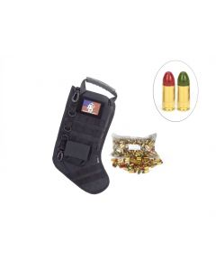 US Cartridge CleanBarrel™ 9mm 115 Gr Red & Green TPJ - 250 Rounds in Tactical Stocking (Black)