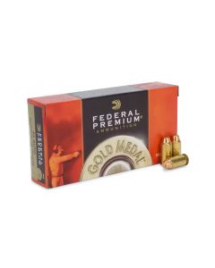 Federal Premium Gold Medal .45 ACP 185 Gr Semi-Wadcutter FMJ (Box)