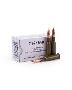 Wolf 7.62 x 54R 148 Grain FMJ (New Production)