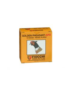 "Fiocchi Golden Pheasant 12 Ga 2-3/4"" 1-3/8 Oz No.6 Shot Nickel-Plated"