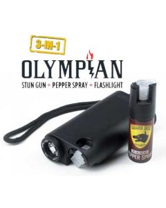 Guard Dog Olympian 3-in-1 Pepper Spray Stun Gun Flash Light - Black