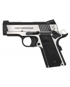 Colt Defender Combat Elite 45 ACP 8+1 Black G10 Half Checkered w/Scallop Grip/Stainless Frame
