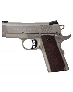 Colt 1911 Defender Single 45 ACP 7+1 Black Cherry/Stainless