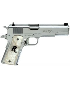 Remington 1911 R1 High Polish 45 ACP 7+1 White Synthetic Pearl Grip/Stainless