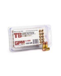 TB Ammunition 9mm 100 Gr All Copper Quadra-Shock