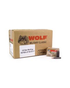Wolf Military Classic .223 Rem 55 Grain FMJ (Case)