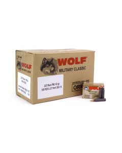 Wolf Military Classic .223 rem 62 Grain FMJ (Case)