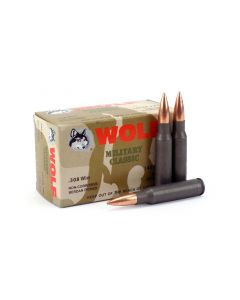 Wolf Military Classic .308 Win 145 gr FMJ