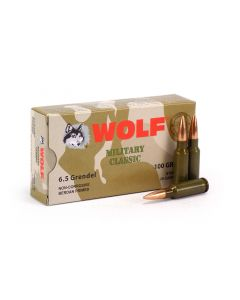 Wolf Military Classic 6.5 Grendel 100 Grain FMJ