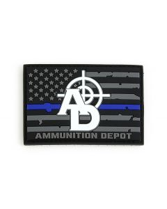 Ammunition Depot PVC Thin Blue Line Morale Patch