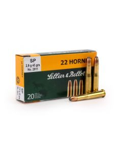 Sellier & Bellot .22 Hornet 45 Grain SP