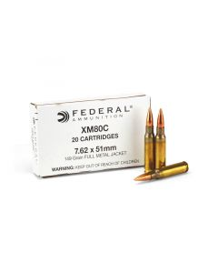Federal Lake City 7.62x51 XM80 149 Grain FMJ Case