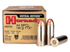 Hornady Critical Defense .44 Special 165 Grain FTX