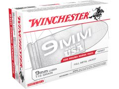 USA9W Winchester USA 9mm 115 Gr FMJ