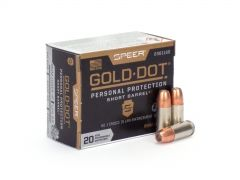 Speer Gold Dot Short Barrel 9mm +P 124 Gr JHP (Box)