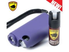 Guard Dog Olympian 3-in-1 Pepper Spray Stun Gun Flash Light - Purple