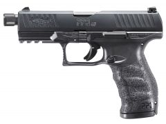 "Walther PPQ M2 SD 45 ACP 4.9"" 12+1 Black Interchangeable Backstrap Grip Black"