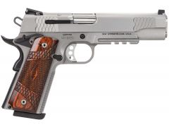 Smith & Wesson 1911 E Series w/Rail 45 ACP 8+1 Laminate Wood/Stainless