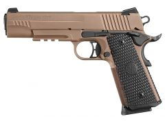 Sig Sauer 1911 Full Size Emperor Scorpion 45 ACP 8+1 Black Hogue G10 Piranha/FDE/Stainless