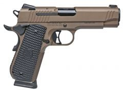 Sig Sauer 1911 Fastback Emperor Scorpion Carry 45 ACP 8+1 Black Hogue G10 Piranha Grip FDE/Stainless
